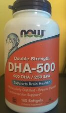 Now Foods DHA 500 mg - 180 Softgels SUPPORTS BRAIN & HEART HEALTH