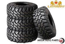 4 New Lionhart Lionclaw MT LT35X12.50R18 8PLY D 123Q All Terrain Mud Tires M/T