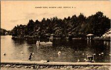 1930'S. SUMMER SCENE. RAINBOW LAKE. DENVILLE, NJ POSTCARD. FROM ESTATE