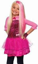 Barbie Wig Pink Blonde Princess Fancy Dress Halloween Child Costume Accessory