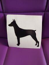 Doberman Pinscher dog k9 vinyl decal sticker