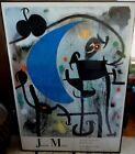 """Framed Miro Print Femme Et Oiseaux Dans La Nuit Pierre Matisse Gallery 52"""" X 37"""""""