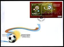 Fußball. EM-2012, Ukraine-Polen. Logo, Ball, Finale. Maxi-FDC. Ukraine 2012