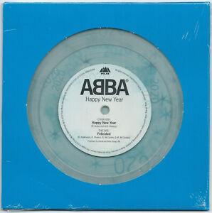 """7"""" ABBA Happy New Year/Felicidad (Polar 1980/2019) ltd clear vinyl #3854 MINT!"""