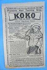 Koko For THe Hair - Original Victorian Magazine Insert
