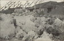 Boat Dock Ice Jam Where Toronto Boat Lands 1909 Buffalo Cancel Postcard