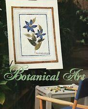 Botanical Art Quilt Pattern Pieced/Embellished Artificial Flower Embellishing