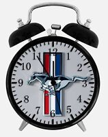 """Mustang Alarm Desk Clock 3.75"""" Home or Office Decor W191 Nice For Gift"""
