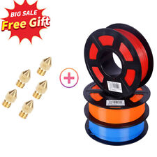 3D Printer Filament 1.75mm PLA ABS TPU Consumables 1KG+5 Free 0.4mm MK8 Nozzles