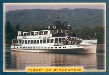 Postcard Cumbria Lake windermere Ferry Swan unposted