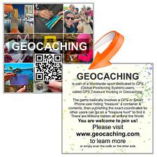 Geocaching officiel big travel bug autocollant-faire quoi que ce soit traçable 11 pouces