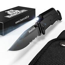 BearCraft Klappmesser | Survival Taschenmesser | Outdoor Messer | Rettungsmesser