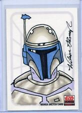 CAPTAIN REX Topps STAR WARS GALAXY 5 MANGA SKETCH CARD by WILSON RAMOS