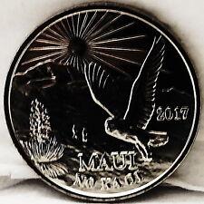 Hawaii Maui Trade Dollar Owl In Haleakala National Park 2017 Coin Uncirculated