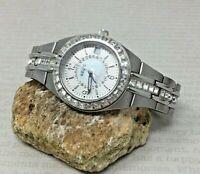 Relic ZR11788 Queens Court Gemmed/MOP Dial/Date Function Stainless Women's Watch