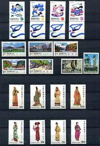 VA1164 ROC CHINA TAIWAN 1987-94, Lot of 5 complete sets, MNH, good catalogue val