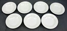 """Totally Today White Porcelain Modern Design Dessert Bowl - 6 1/2"""" - Set of 7"""