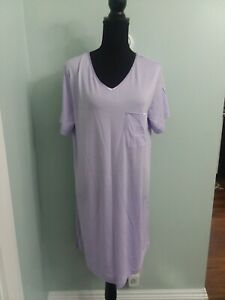Cabernet NWT Sz Small 100% cotton nightgown short sleeve purple MSRP $28