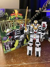 Bandai Mighty Morphin Power Rangers Legacy White Tigerzord RARE GREAT CONDITION