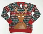 33 Degrees Ugly Christmas Reindeer Sweater With Beverage Holder Multiple Sizes