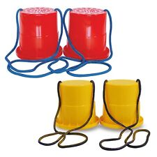 Kids Colourful Plastic Beach Bucket Stilts Game Summer Indoor Outdoor Toy Play