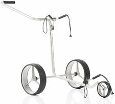 JuCad Edition Manual Golf Push Cart w/Carry Bag - Stainless Steel Trolley