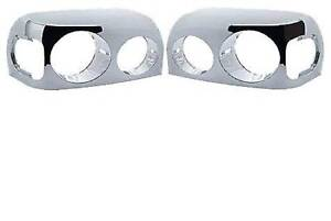 FREIGHTLINER CENTURY 2000 2001 2002 2003 2004 2005 CHROME HEADLIGHT BEZEL PAIR