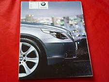 BMW 5er E60 Limousine 520i 525i 530i 545i 525d 530d 535d Prospekt von 2004