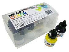 Magic Color Artist Acrylic Ink STARTER BOX SET of 8 Colours. Speedry Ink.