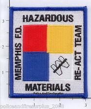 Tennessee - Memphis Haz Mat Re-Act Team TN Fire Dept Patch Hazardous Materials