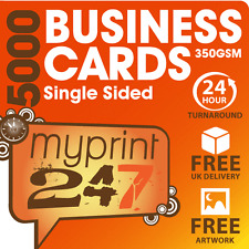 5000 FULL COLOUR BUSINESS CARDS - 350gsm - FREE ARTWORK