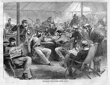 CANADIAN VOLUNTEERS AFTER DRILL, FENIAN MOVEMENT IN CANADA HISTORY, ANTIQUE