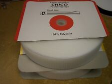 1 Roll 50mm x 24m HOOK TAPE only, White sew on
