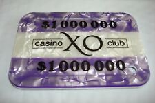 XO Casino $1,000,000.00   Abbiati sample.plaque