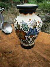 Flora Gouda Plateel Holland Pottery - 431 - Floral Vase  - Blue + Browns