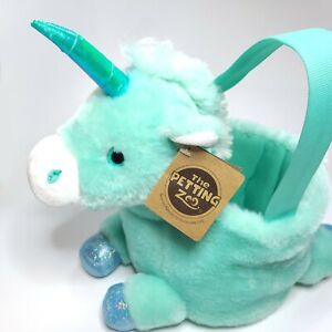 NWT The Petting Zoo Easter Basket Unicorn Plush Recycled Materials Super Soft