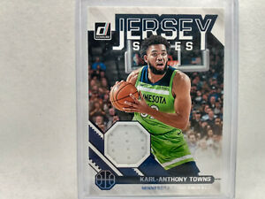 2020-21 Panini Donruss Basketball Karl-Anthony Towns #JS-KAT Jersey Series Card