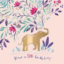 Elephant Fab Birthday Greeting Card By The Curious Inksmith Greetings Cards
