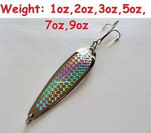 Crocodile Spoons Chrome/Silver Casting Fishing Jigs 1oz 2oz 3oz 5oz 7oz 9oz