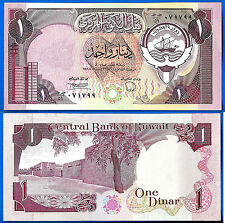 Kuwait 1 Dinar 1980 at 1991 UNC Sign 6 Dinars Fortress  Free Shipping Worldwide