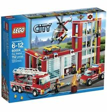 """BRAND NEW! LEGO CITY """"FIRE STATION"""" WITH 753 PIECES 60004"""