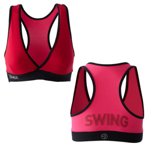 Zumba Fitness Shout Out V-Bra Top - Candy Apple EXTRA LARGE (XL)