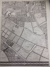 Large Print of a London Map First Published in 1746. The Kent Road. f3