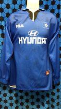 Vintage Autographed FILA Football Soccer Hamburger SV HSV Jersey Shirt Men's XL