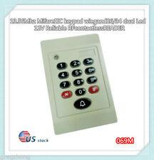 Weatherproof 13.56Mhz Mifare1 S50 keypad WG26/34 RFID Access Control Card READER