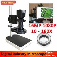 16MP 180X 1080P 60FPS HDMI HD Industry Lab Microscope Camera Set + 4GB TF Card