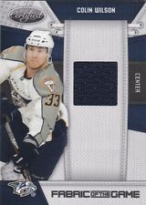 2010-11 PANINI CERTIFIED HOCKEY COLIN WILSON FABRIC OF THE GAME RELIC #26/250