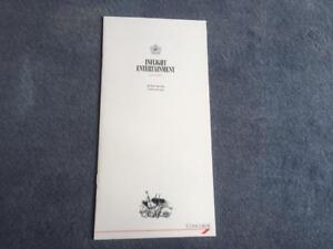 British Airways Concorde Inflight  Entertainment Guide December 1988