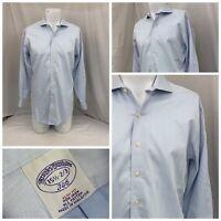 Brooks Brothers Dress Shirt 15.5 32/33 Blue Slim Fit 100% Cotton EUC YGI Q0-205