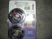 2 Wheel Tunes Chrome Police Turn Signal Grilles with Amber & Red Lenses